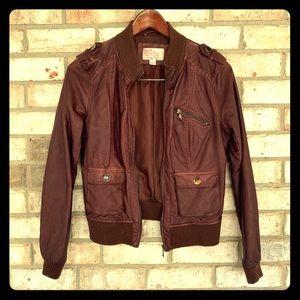 Xhilaration Brown Bomber Jacket